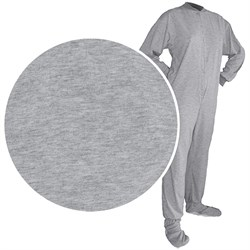 Big Feet PJs Gray Knit Footed Pajamas for Men and Women plus size,  plus size fashion plus size appare