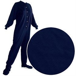 Big Feet PJs Navy Knit Footed Pajamas for Adults plus size,  plus size fashion plus size appare