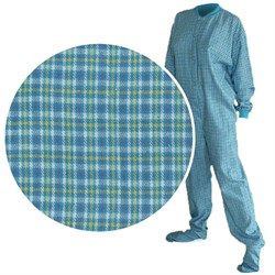 Big Feet PJs Turquoise Flannel Pajamas for Men and Women plus size,  plus size fashion plus size appare