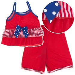 Laura Dare Stars and Stripes Strappy Pajamas for Toddlers and Girls