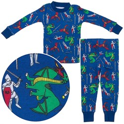Agabang Dragon Organic Cotton Pajamas for Toddlers and Boys