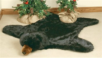 Click to buy Cabin Rugs: Black Bear Rug from Black Forest Decor!