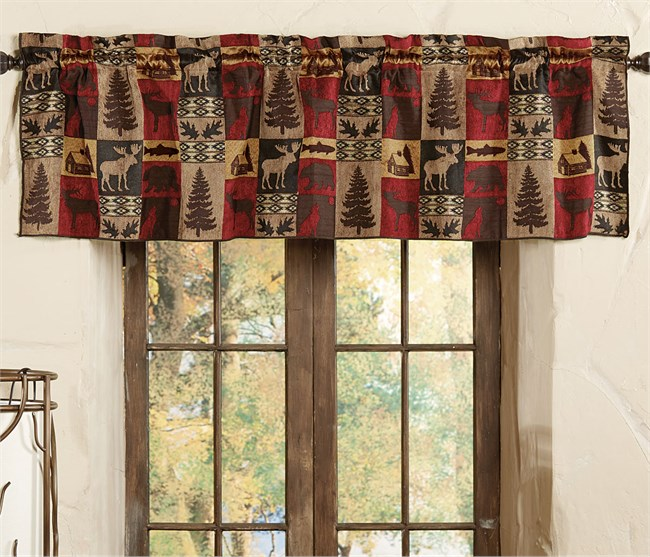 Click to buy rustic valance window treatments appalachian for Primitive cabins for sale