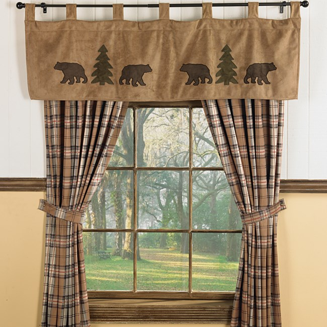 Bear Curtains Everything Log Homes