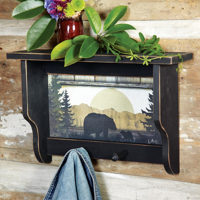 Black Bear Wall Shelf