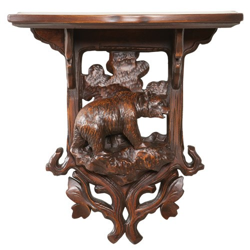 Black Forest Bear Wall Shelf