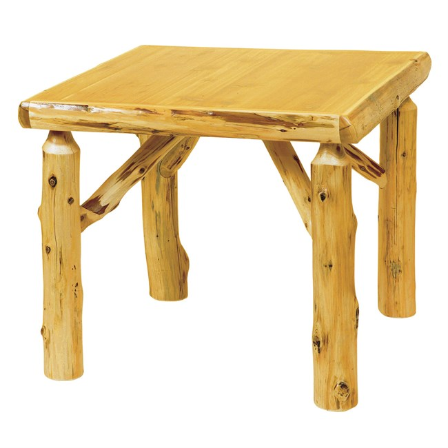 Cedar Log Standard Finish Game Table - 36 Inch