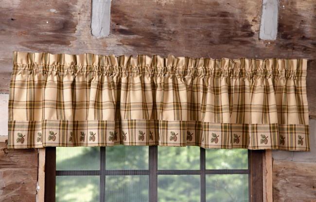Click To Buy Rustic Window Treatments Pine Lodge Valance