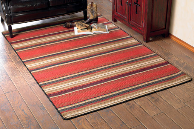 Wildlife Rugs Santa Fe Stripe Rug Collectionblack Forest Decor