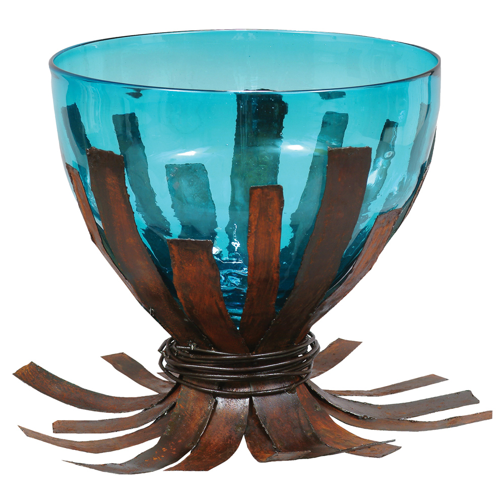 Black Forest Decor Agave turquoise centerpiece bowl