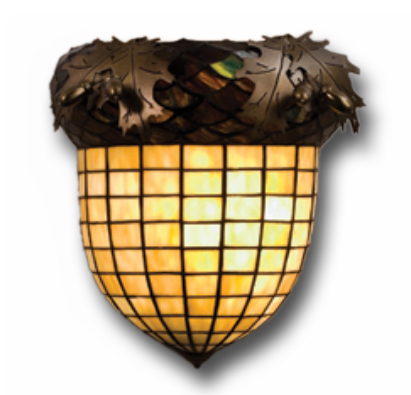 Black Forest Decor Acorn wall sconce