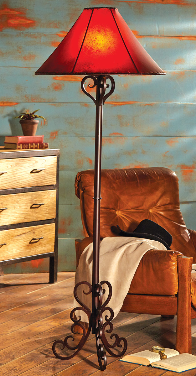 Black Forest Decor Andalusia iron scroll floor lamp