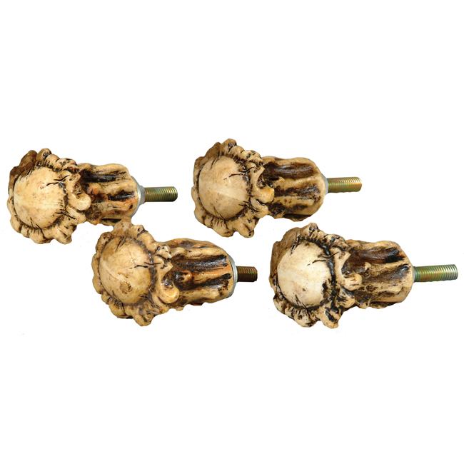 Rustic Hardware: Set of 4 Antler Crown Cabinet Knobs|Black Forest ...