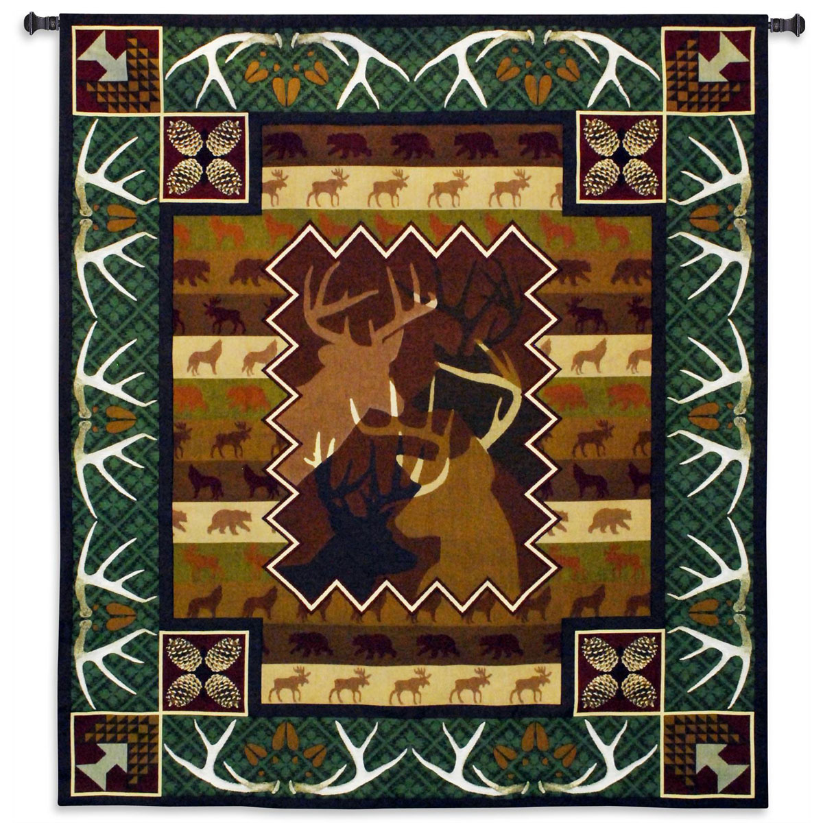 Black Forest Decor Antlers wall tapestry