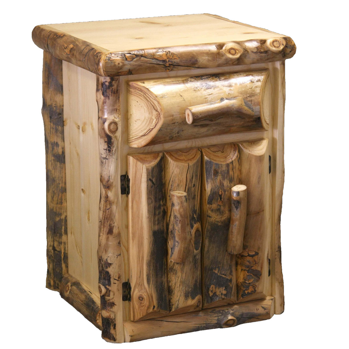 Black Forest Decor Aspen 1 drawer nightstand with doors