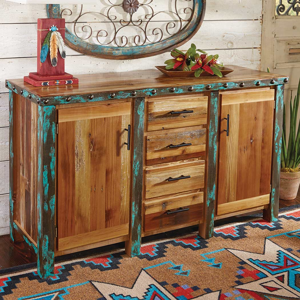 Black Forest Decor Azul barnwood buffet / cabinet