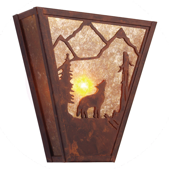 Bark At The Moon Vegas Sconce