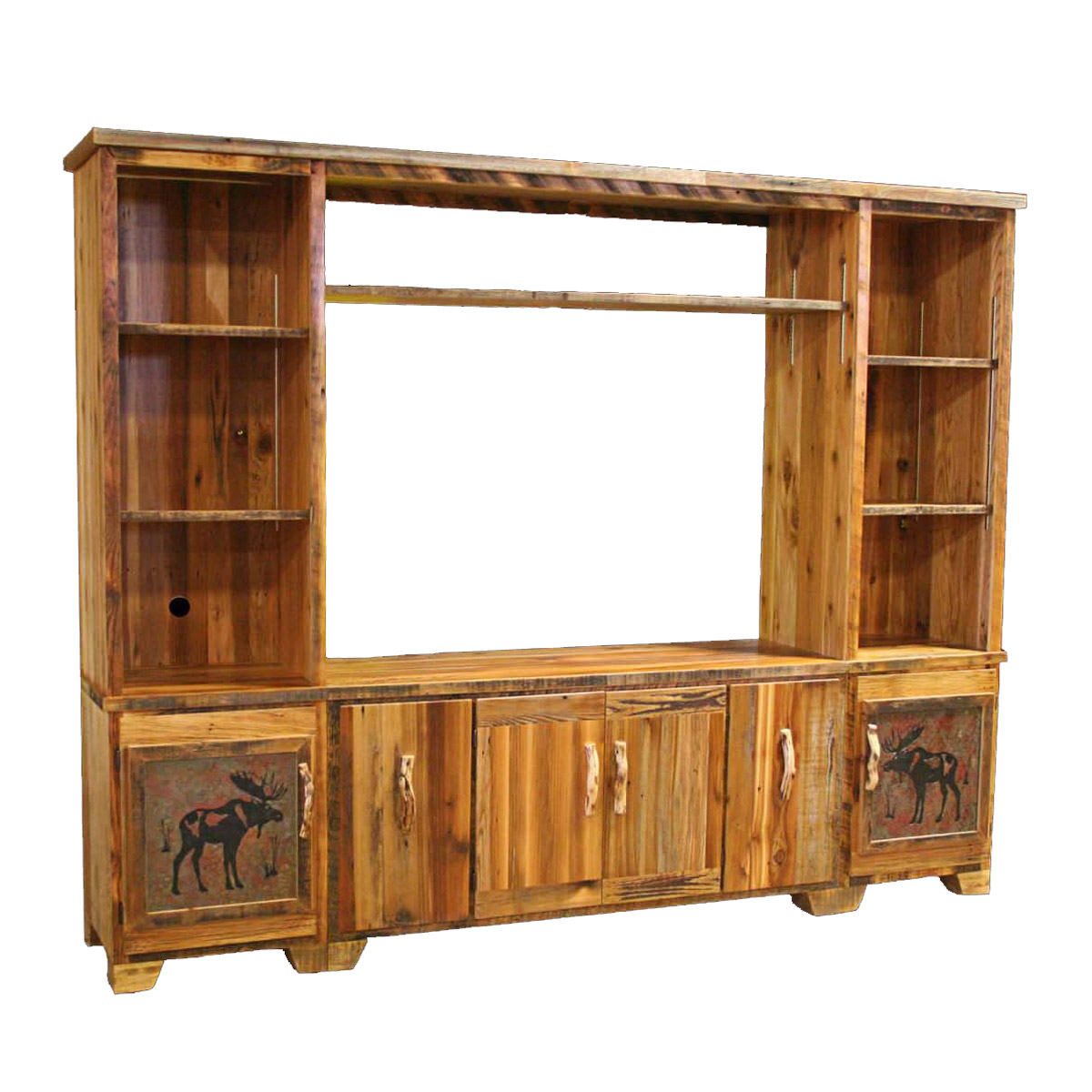 Black Forest Decor Barnwood extra large entertainment cen...