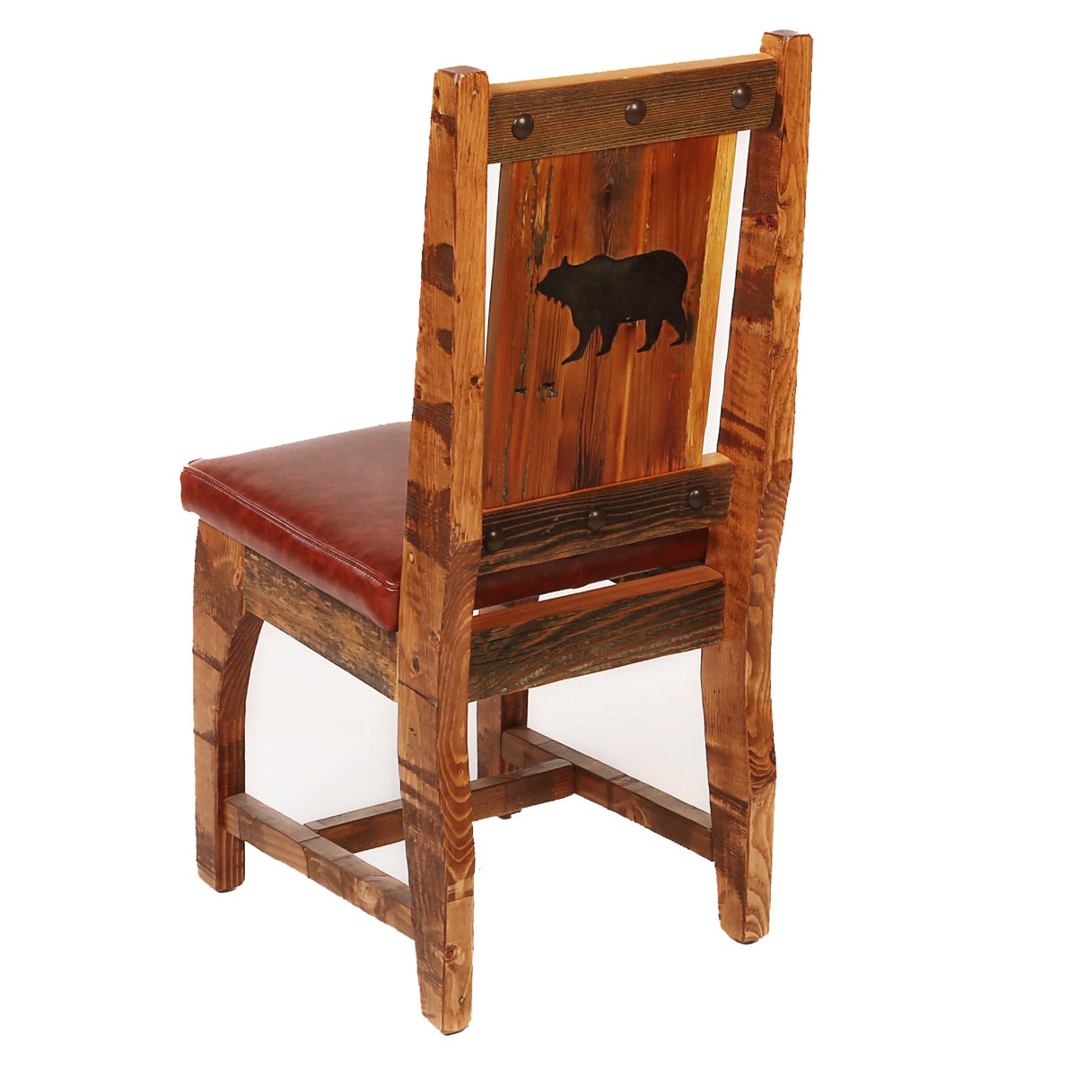Black Forest Decor Barnwood side chair with cushion