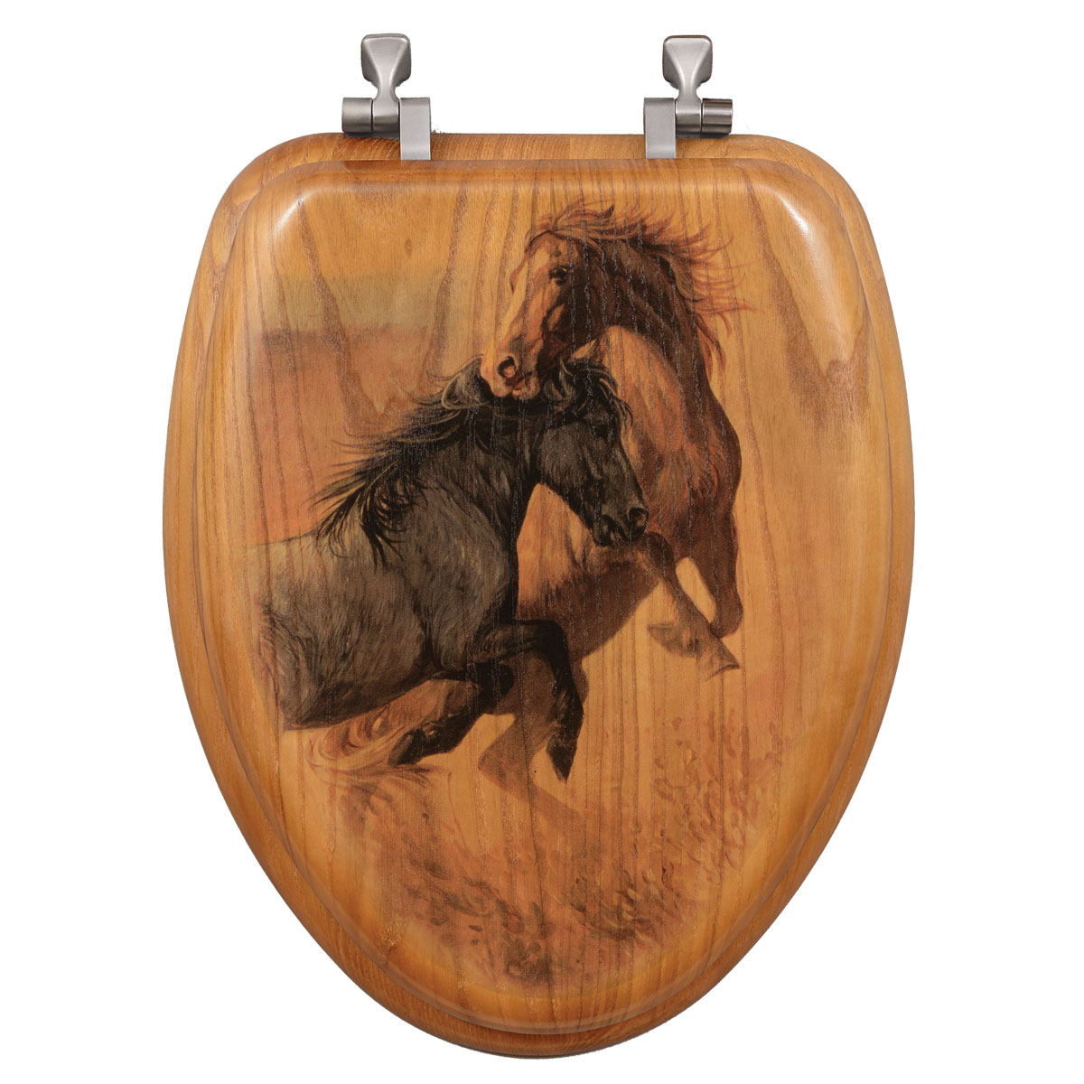 Black Forest Decor Challenged toilet seat - elongated