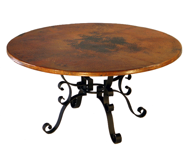 Black Forest Decor Roman round dining table - 60 inch