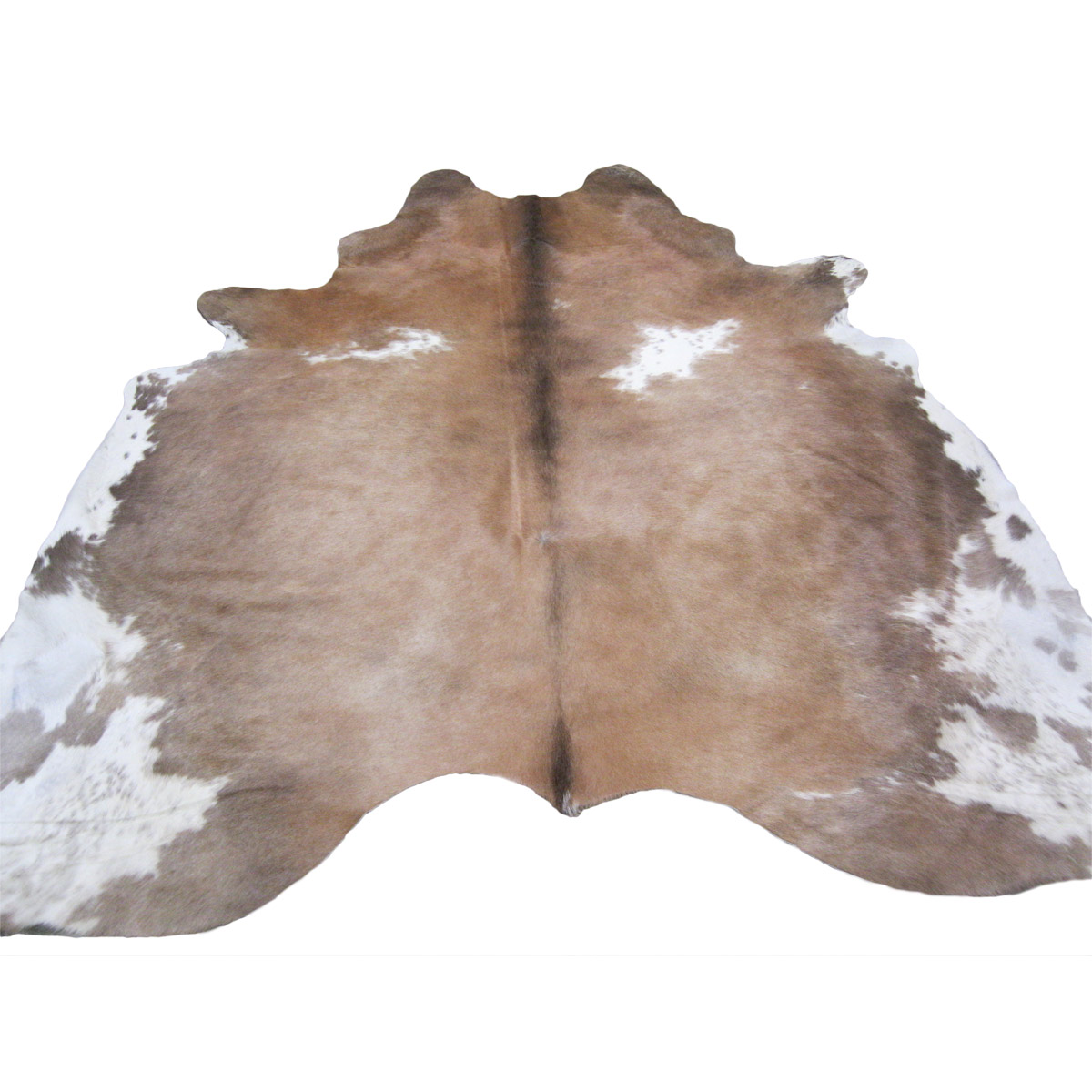 Black Forest Decor Cowhide rug - tan & white