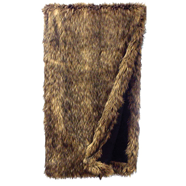 Black Forest Decor Coyote faux fur throw
