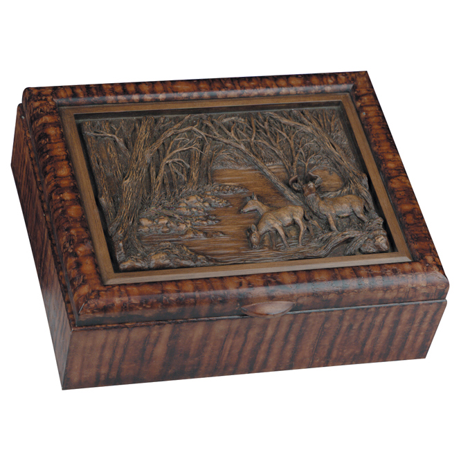 Black Forest Decor Deer family keepsake box