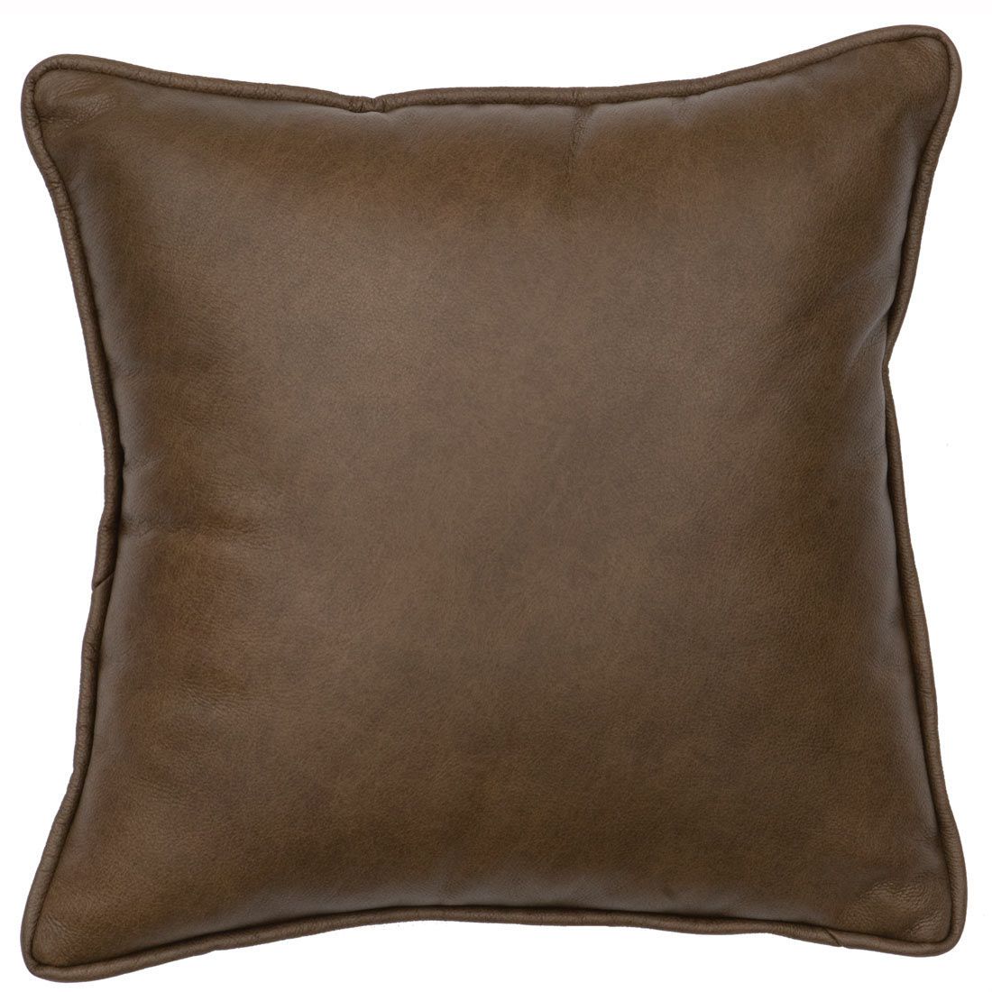 Black Forest Decor Desert flower leather accent pillow wi...