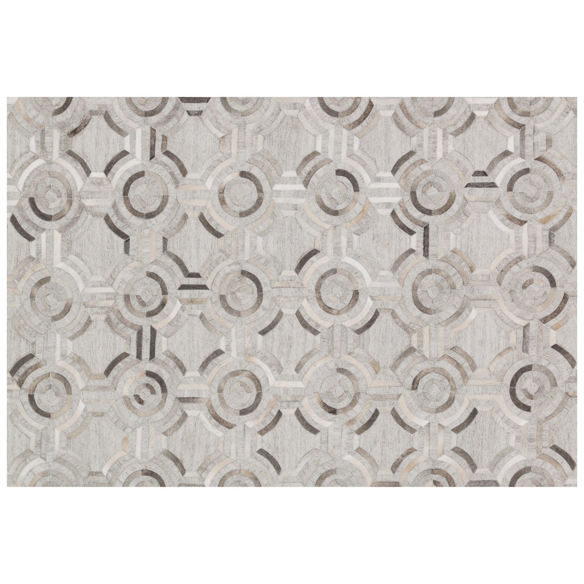 Black Forest Decor Dorado gray circles rug - 3 x 8