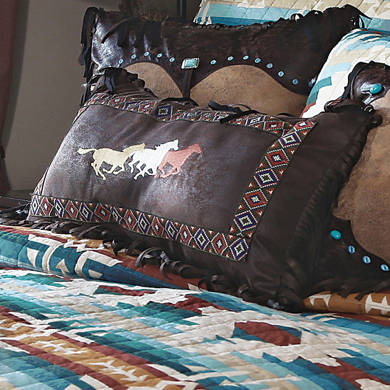 Black Forest Decor Earth & sky three horses embroidered p...