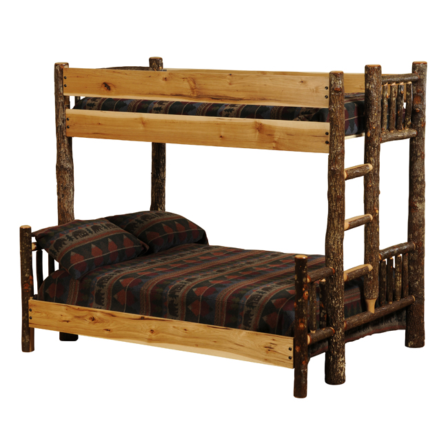 Black Forest Decor Hickory twin/full bunk bed (ladder left)