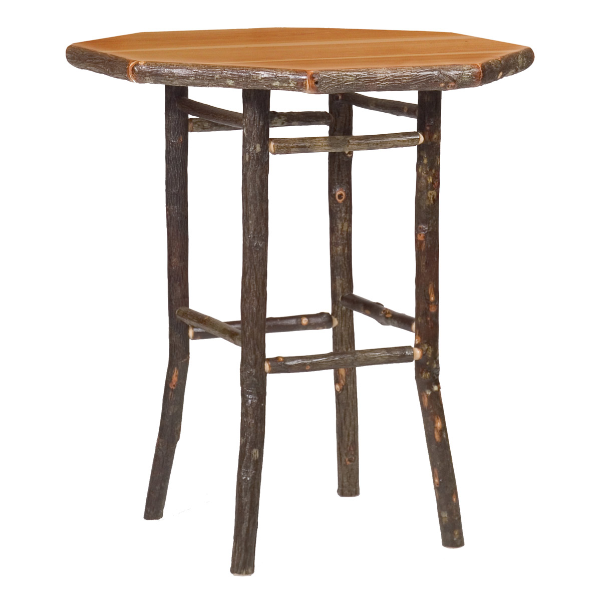 Black Forest Decor Hickory round pub table - 40 inch