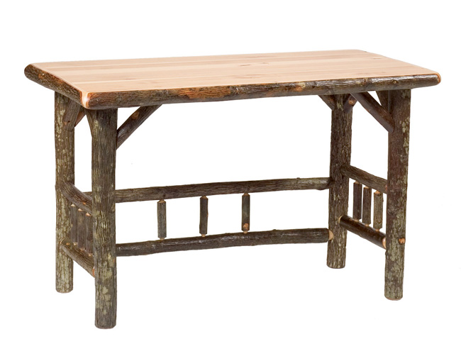 Black Forest Decor Hickory traditional log open writing desk