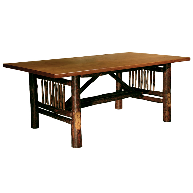 Black Forest Decor Black forest hickory craft dining table
