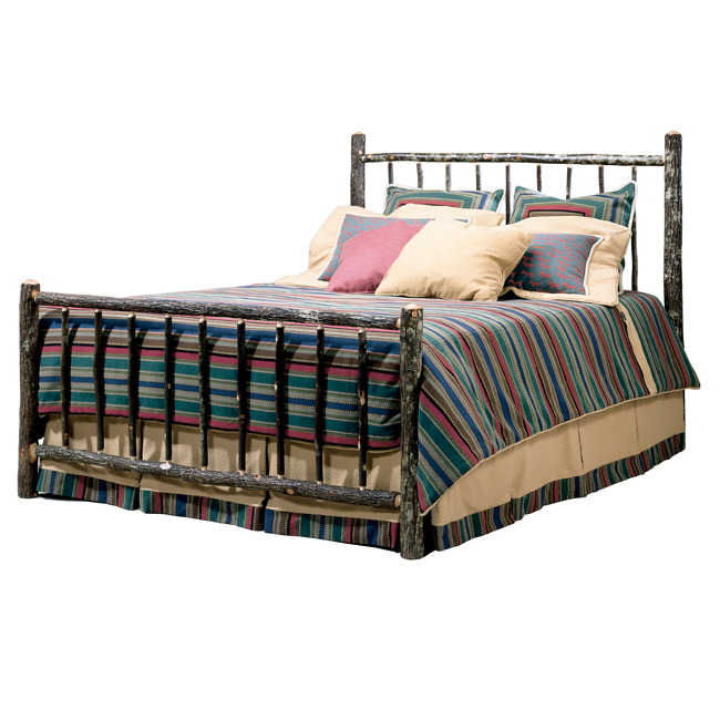 Black Forest Decor Black forest berea hickory bed - queen