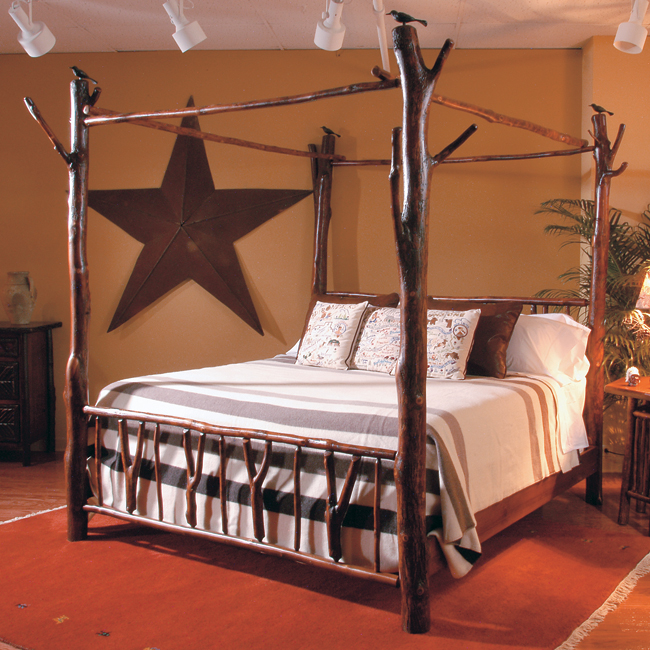 Black Forest Decor Black forest hickory poster bed - queen