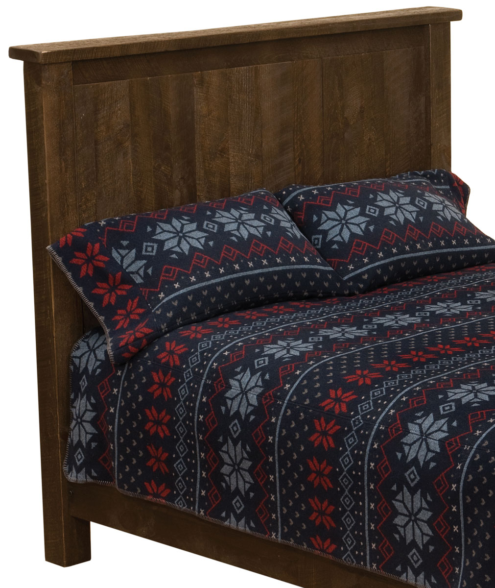 Black Forest Decor Frontier barn brown traditional headbo...