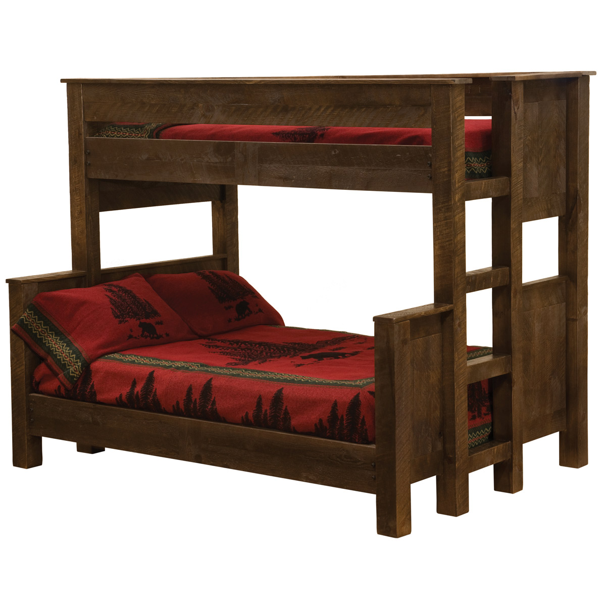 Black Forest Decor Frontier bunk bed - queen/twin