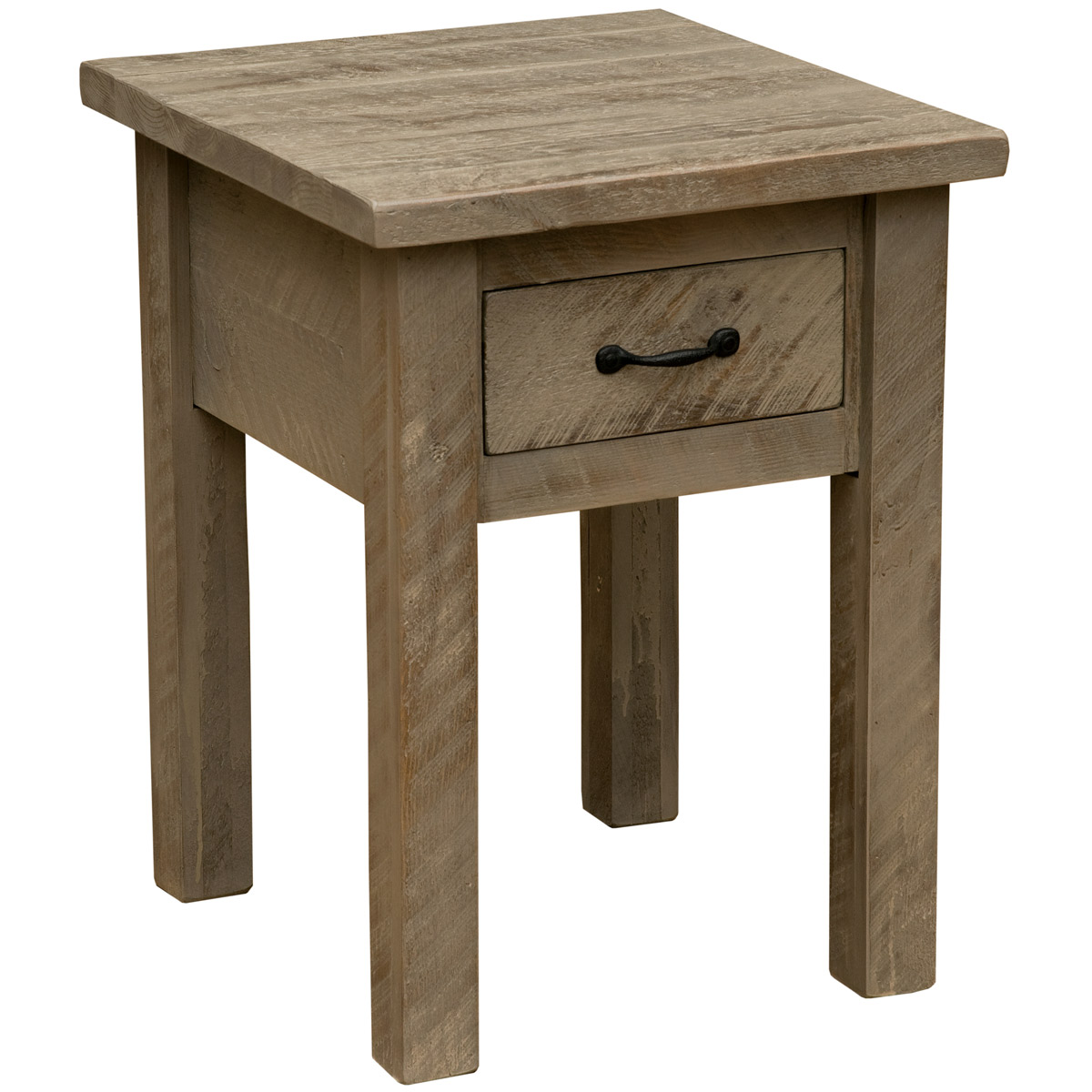 Black Forest Decor Frontier driftwood 1 drawer nightstand