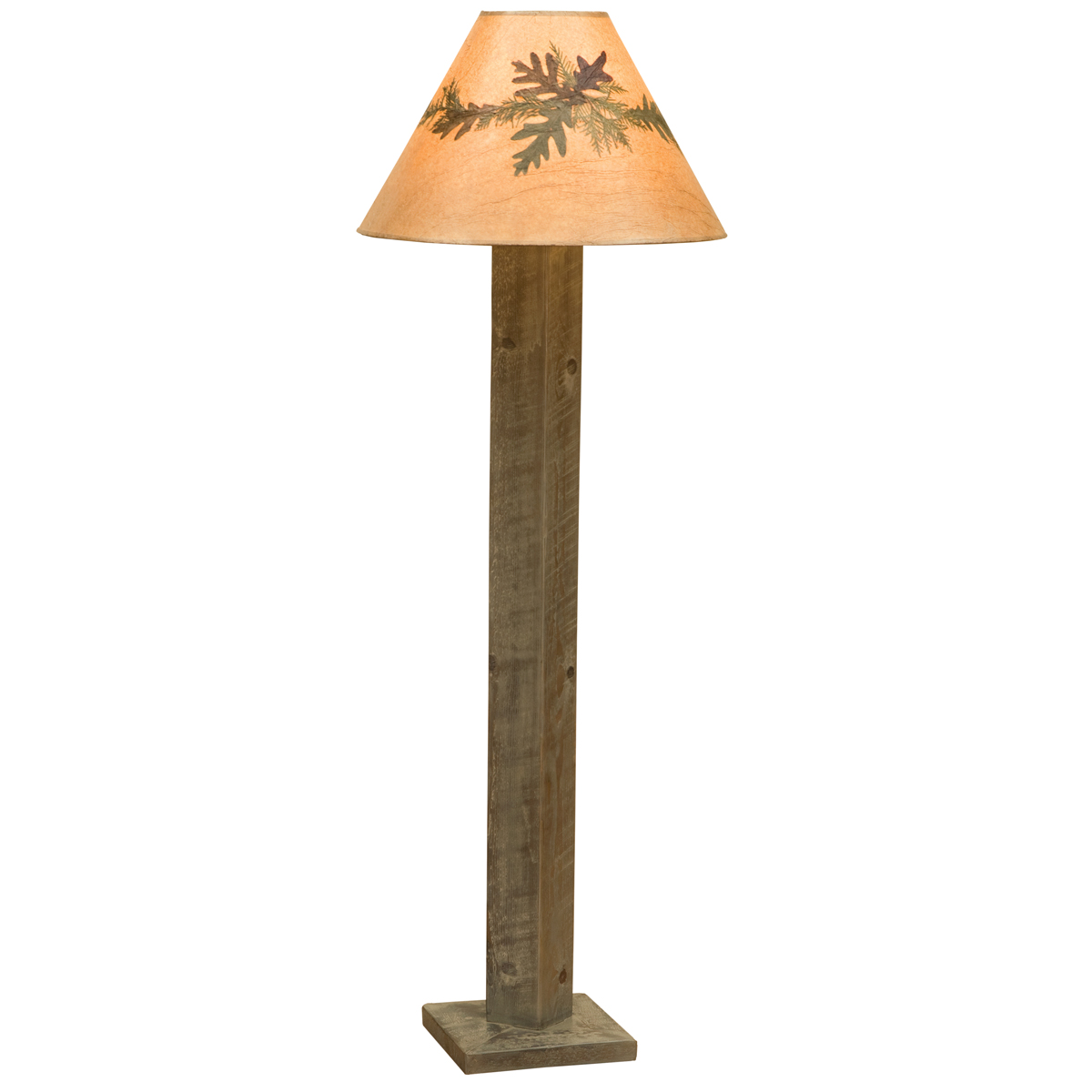 Black Forest Decor Frontier driftwood floor lamp with ext...