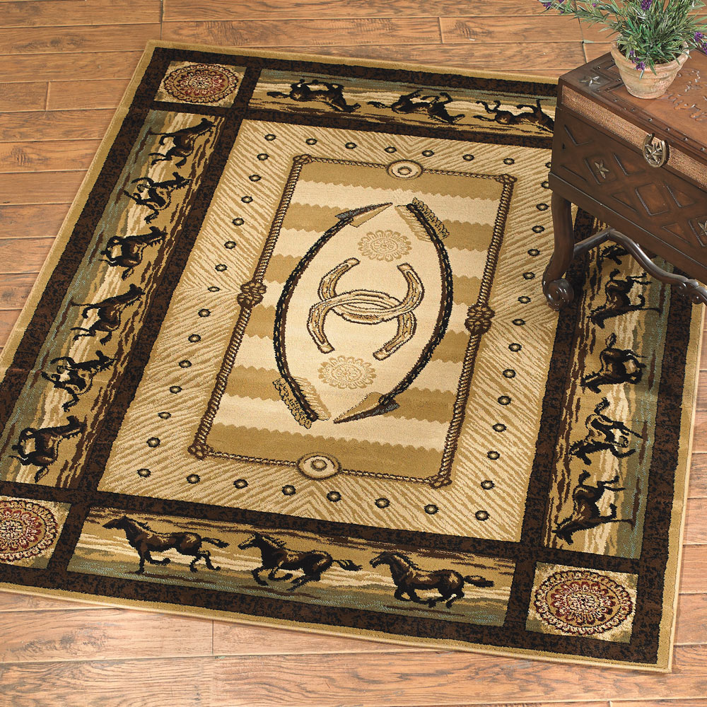 Black Forest Decor Gallop horse rug - 5 x 8