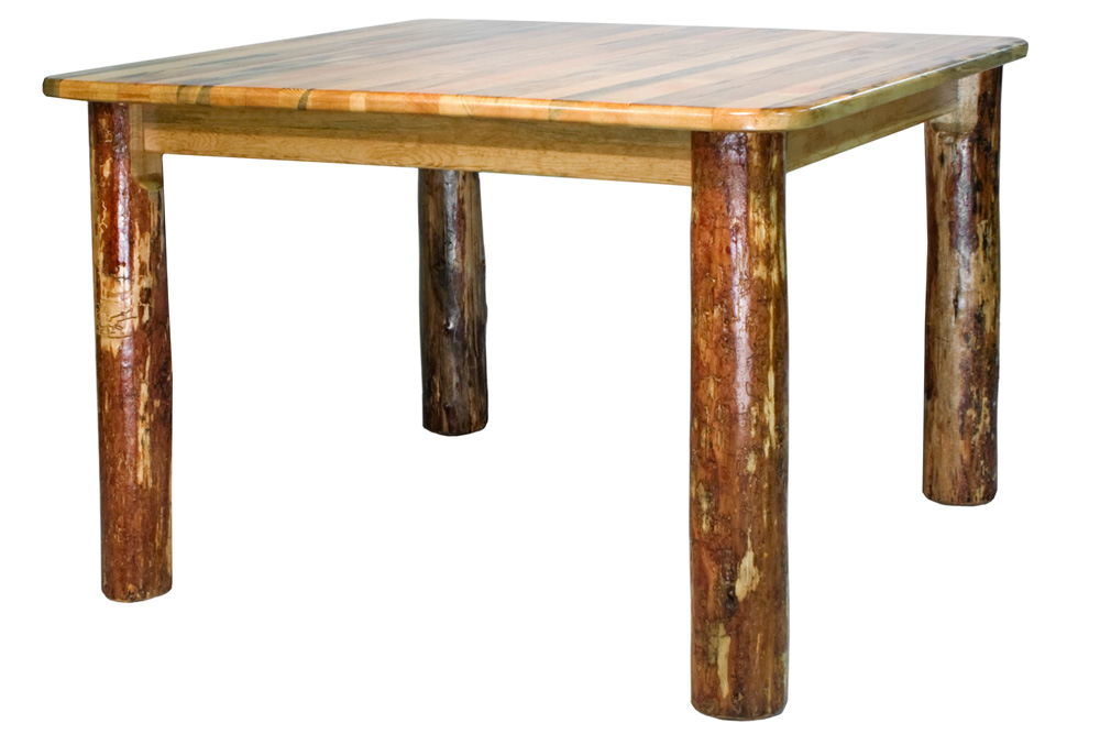 Black Forest Decor Glacier square 4 post dining table