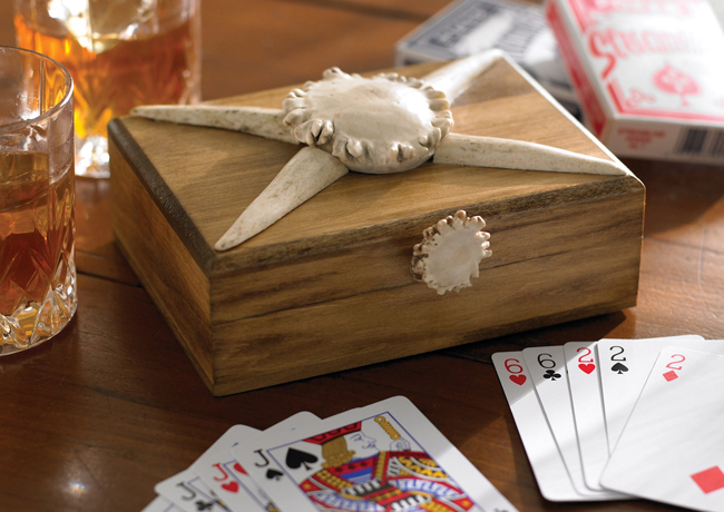 Black Forest Decor Antler playing card box