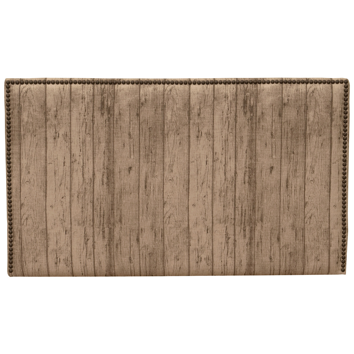Black Forest Decor Highland wood plank fabric headboard -...