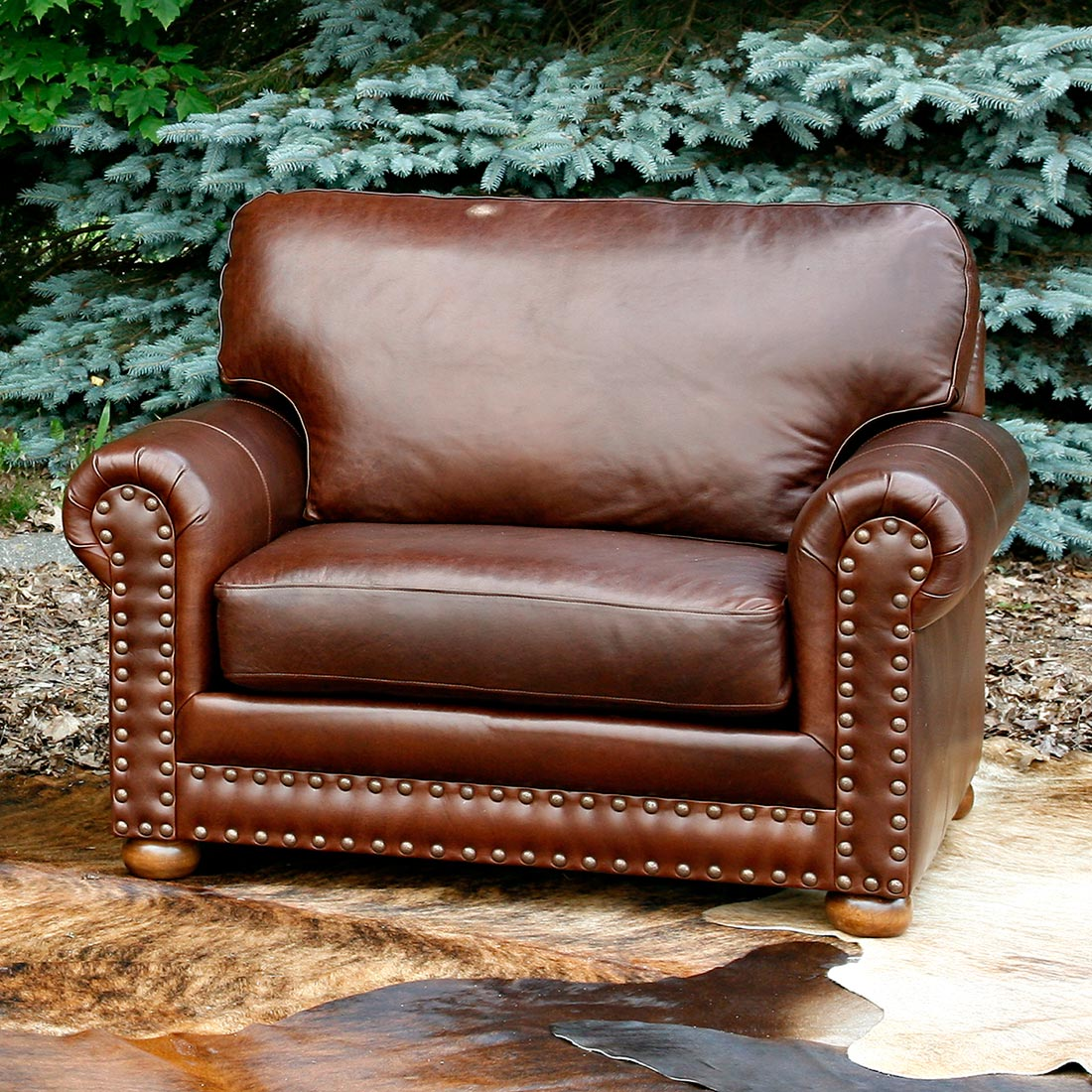 Black Forest Decor Hinsdale chinchilla oversized chair