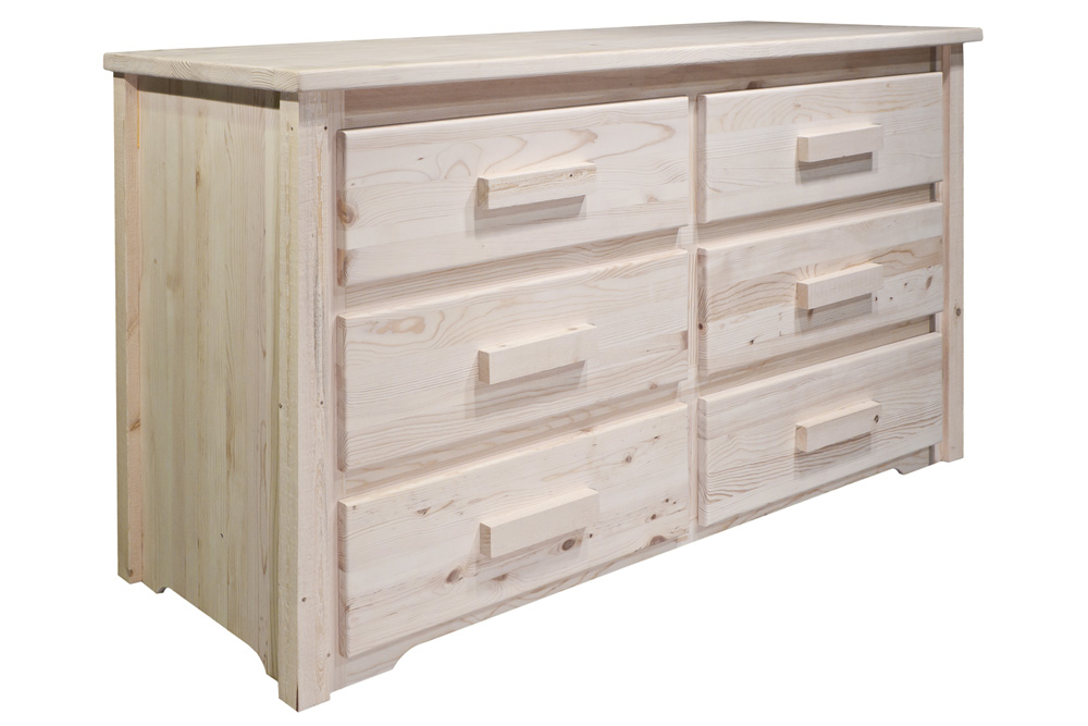 Black Forest Decor Homestead 6 drawer chest - lacquered