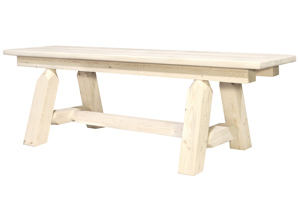 Black Forest Decor Homestead 6' plank bench - unfinished