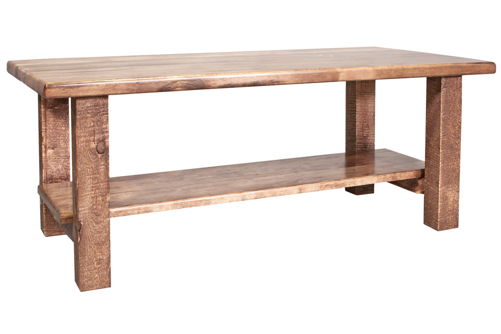 Black Forest Decor Homestead coffee table with shelf - st...