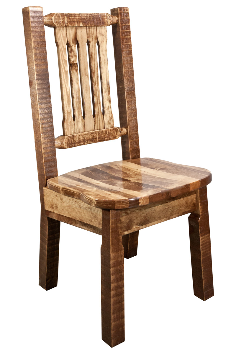 Black Forest Decor Homestead dining chair - stained and l...